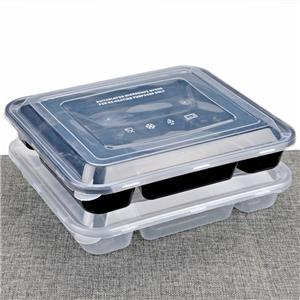 Disposable lunch box four boxes lunch box takeaway box plastic meal disposable packing box 150 sets