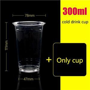300ml disposable pet drink cup cold drink juice bottle juice cup custom 1000 sets