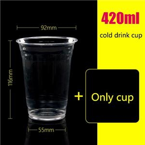 420ml disposable cup beverage cup cold drink juice bottle juice cup 1000 sets