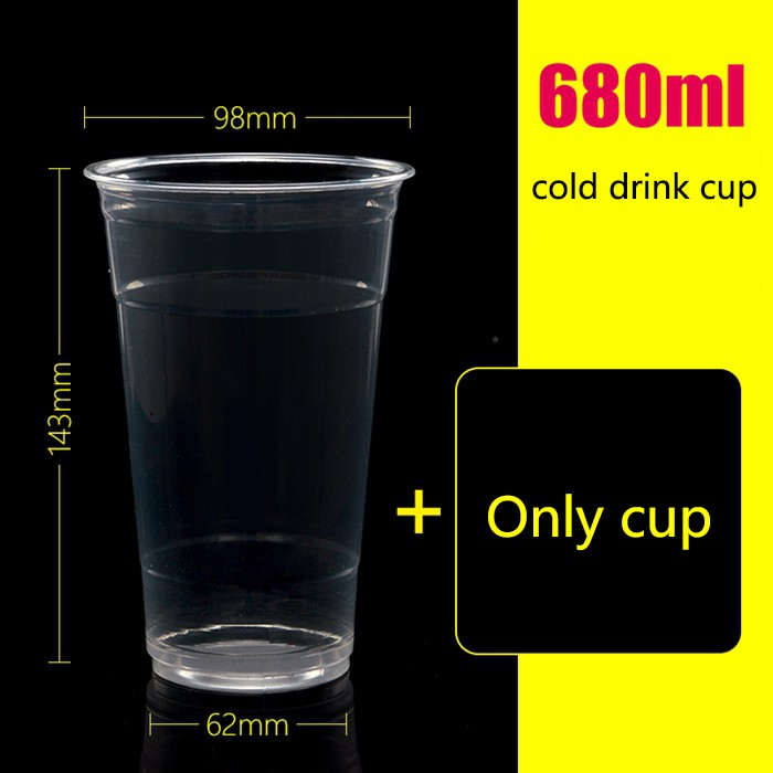 680ml disposable cold drink cup cold drink juice bottle juice cup custom 1000 sets