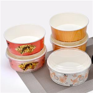 1000ml disposable paper bowl ice porridge bowl roasted cold noodle bowl shaved ice bowl packed stinky tofu bowl 300