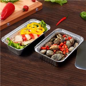 aluminum foil tray aluminum foil box for food packaging disposable aluminum foil lunch box
