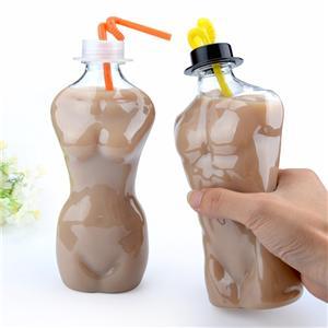 500ml disposable pet drink cup cold drink juice bottle juice cup custom 200 sets