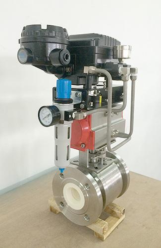 ceramic v ball control valve