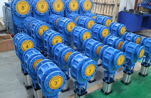 28 sets of pneumatic double disc valve have been finished for exporting