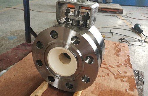 Ceramic ball valve applied for ammonia and copper powder