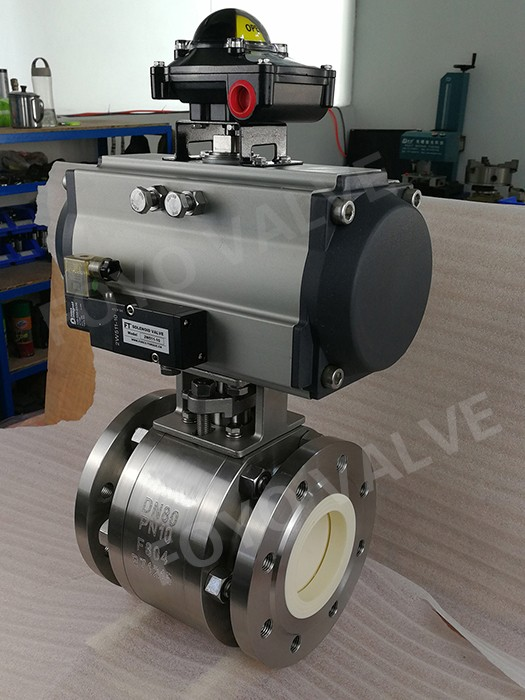 Full lined ceramic valve applied to pneumatic conveying project of Lithium battery anode material