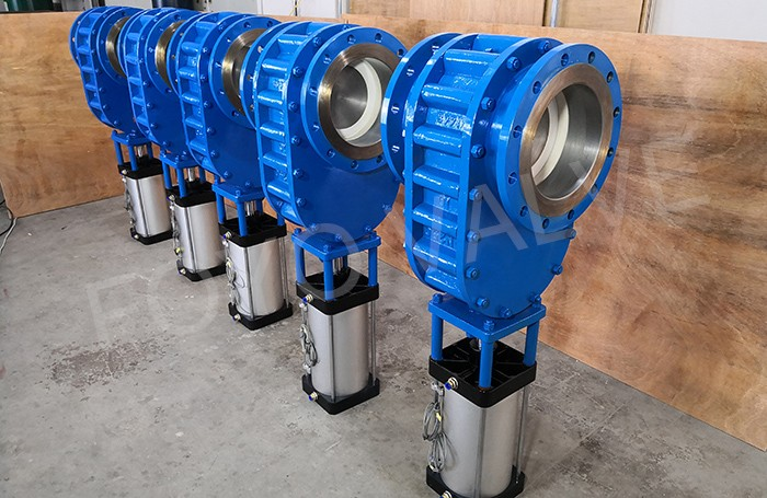 Pneumatic Ceramic Double Gate Valve for Fly Ash