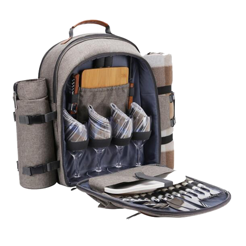 Picnic Backpack For 4 Blanket