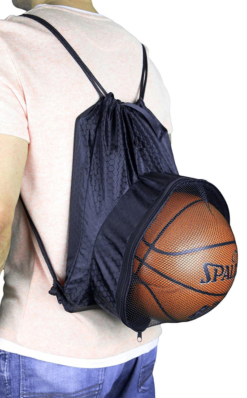 Drawstring Backpack Ball Pocket