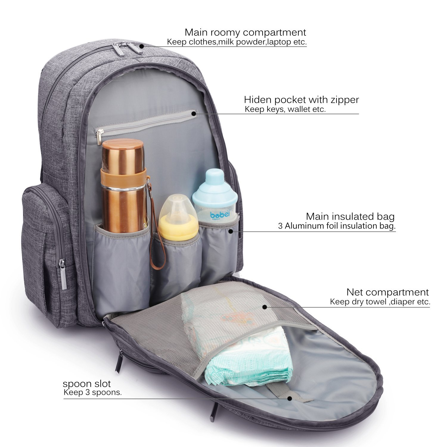 Backpack Diaper Bag diaper mat