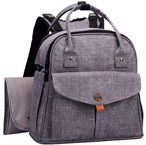 Polyester Backpack Diaper Bag