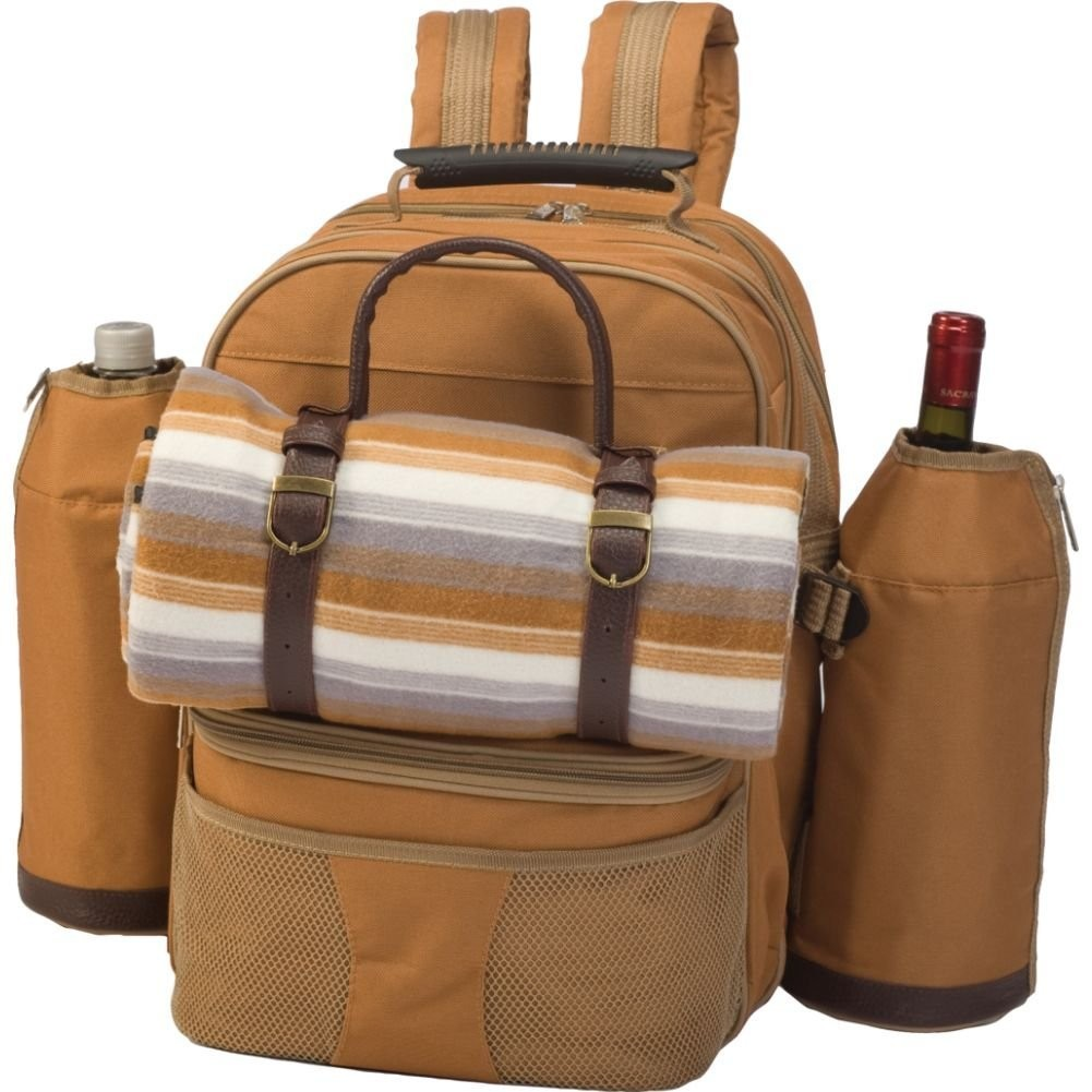 Picnic Backpack For 4 Blanket