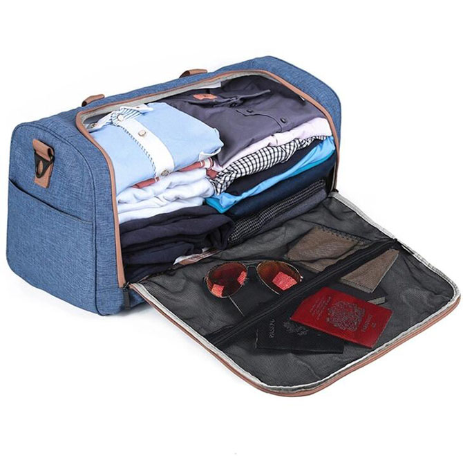 U Zipper Gym Duffle Bag