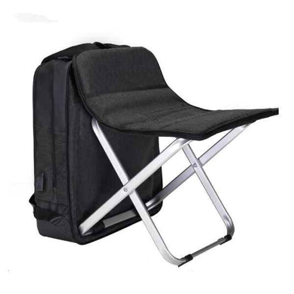 Backpack with chair seat