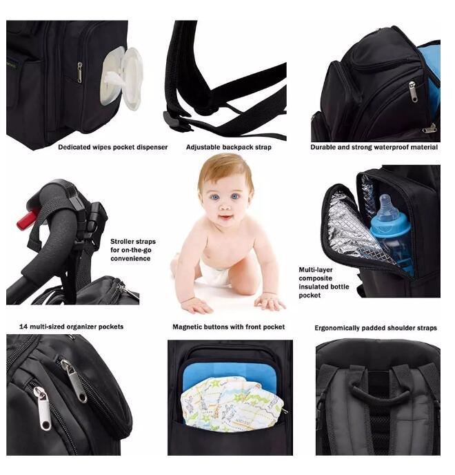 230D nylon diaper bag