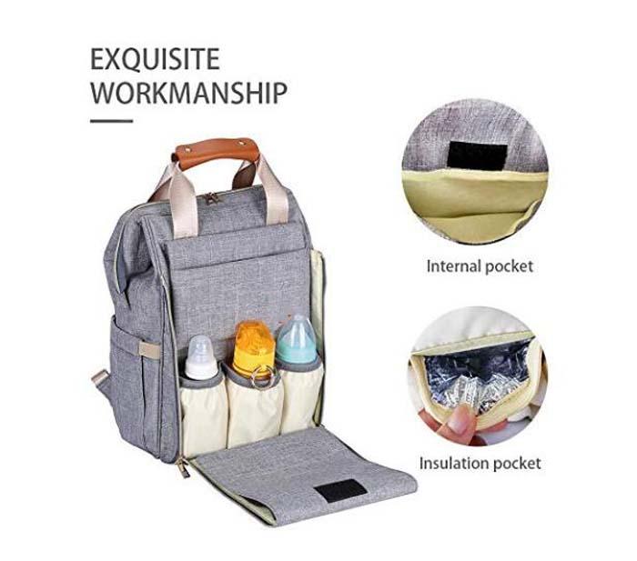 Polyester Backpack Diaper Bag