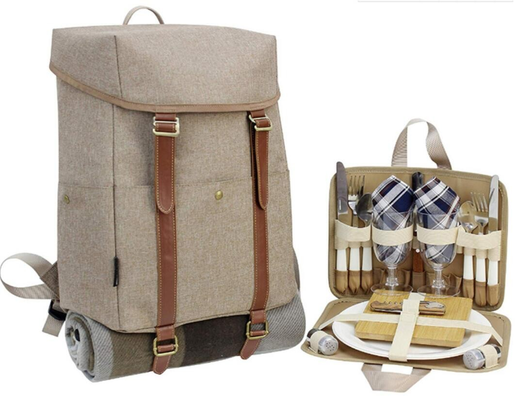 Deluxe Picnic Backpack for 2 Manufacturers, Deluxe Picnic Backpack for 2 Factory, Supply Deluxe Picnic Backpack for 2