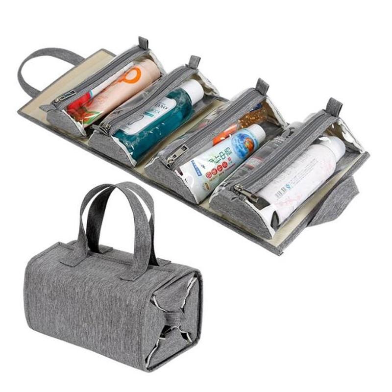 حقيبة مستحضرات التجميل البلاستيكية
