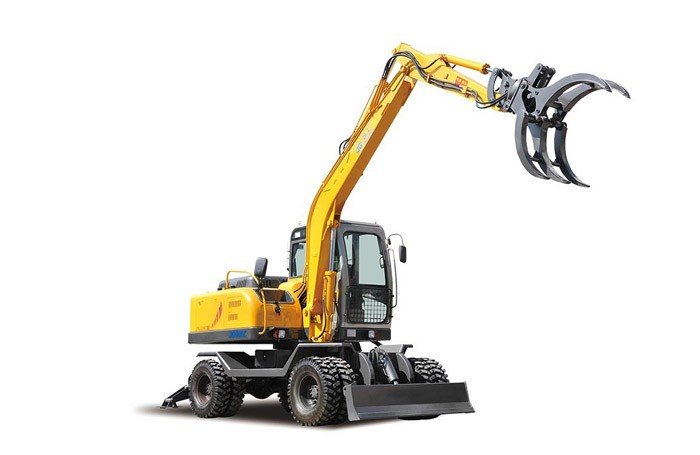 Mini Backhoe Small Excavator with Grapple for Sale