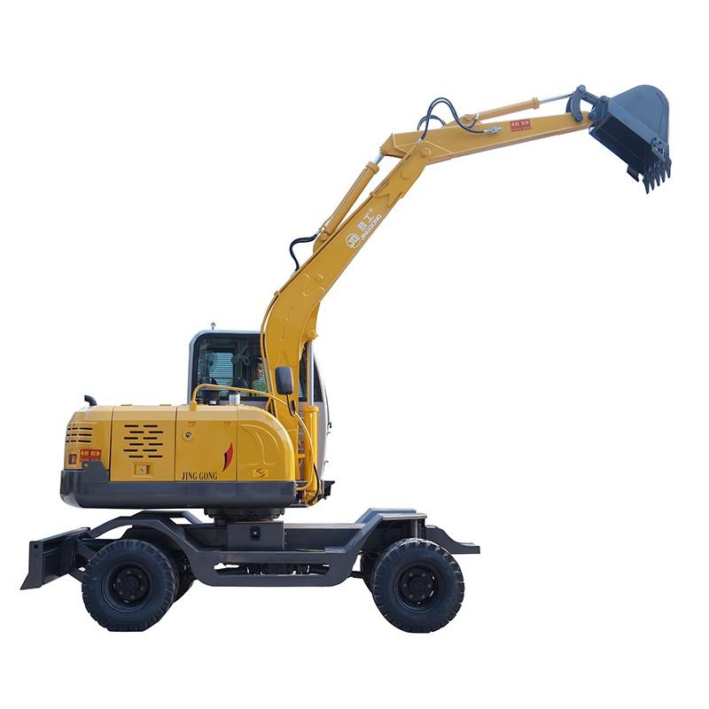 JING GONG Mini Wheel Excavator