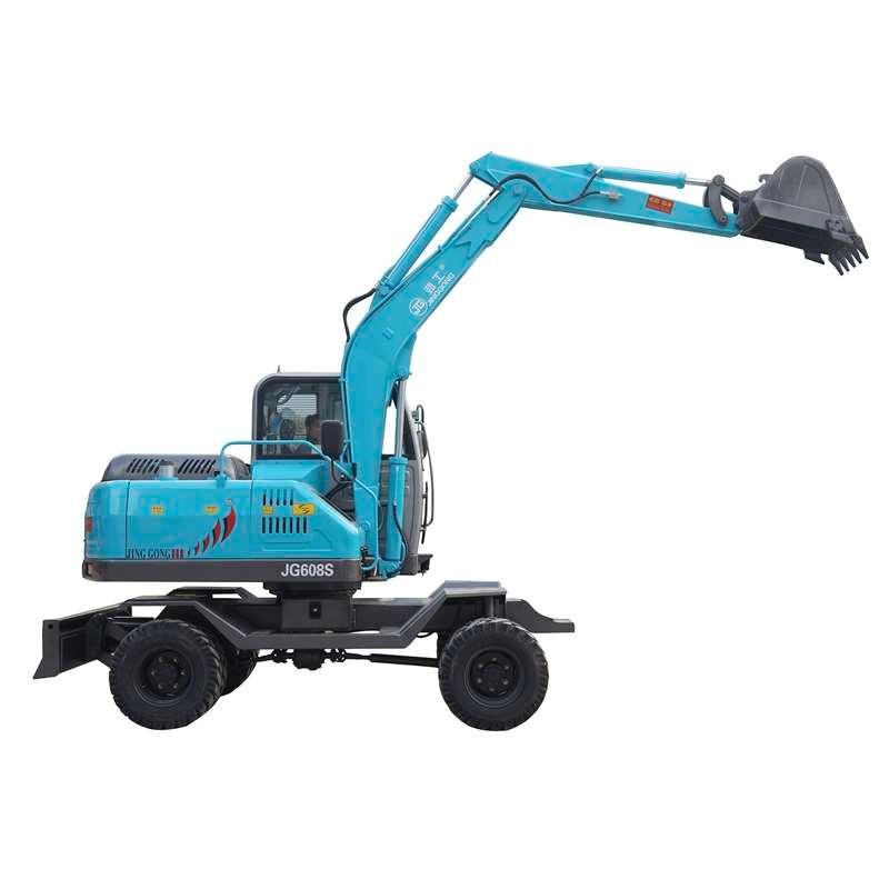 New Mini Excavator Wheeled Machine Cheap Price