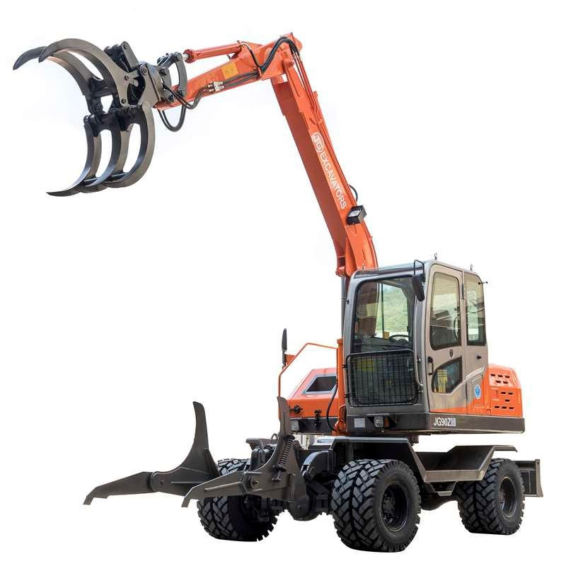 JG100Z Grapple Excavator for loading sugarcane in South of America