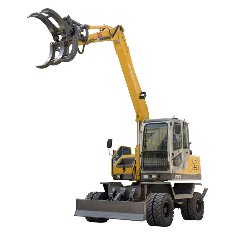 JG95Z-9 Wheel Excavator with grapple and bucket