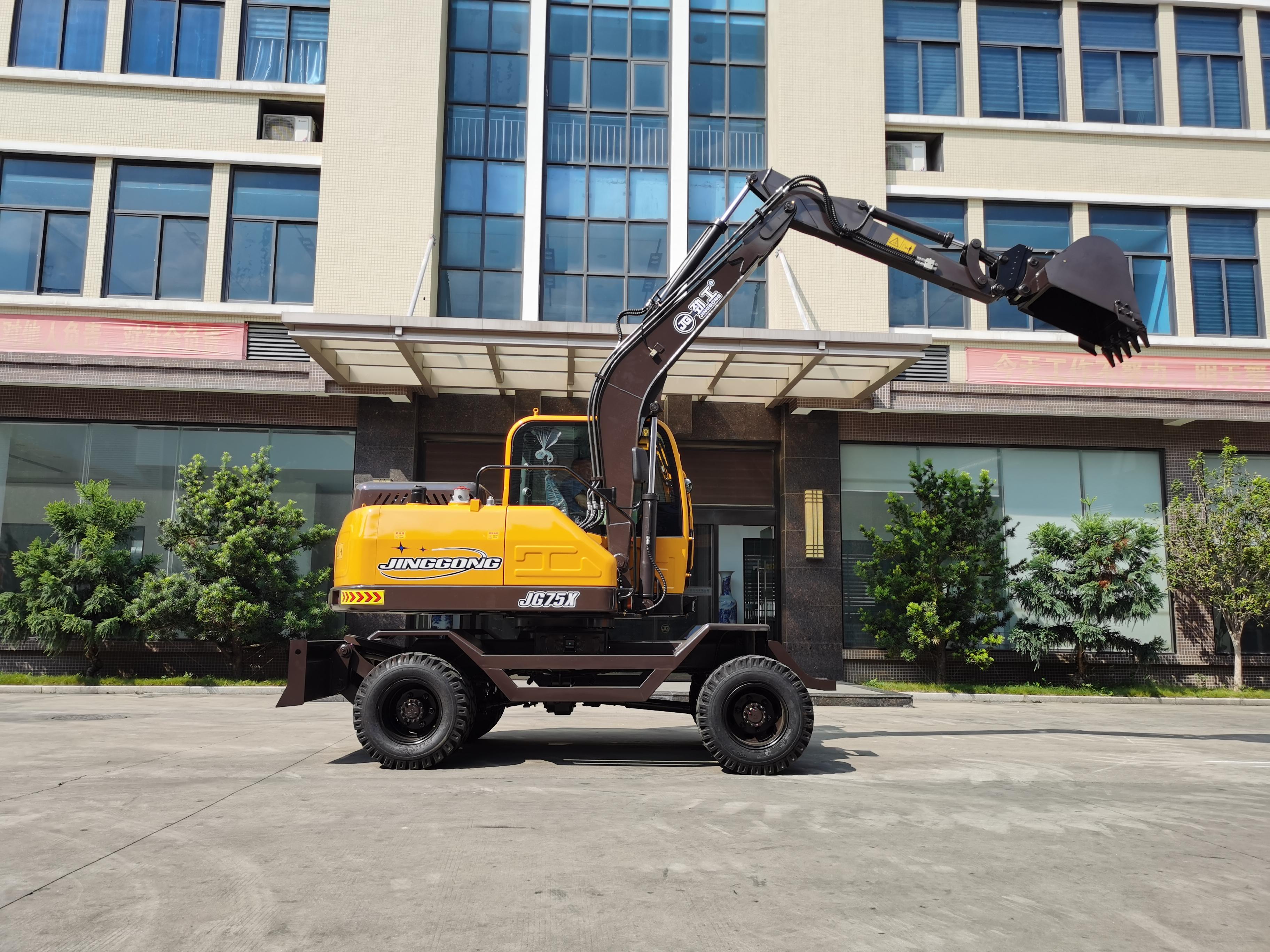 JG75X Wheel Excavator
