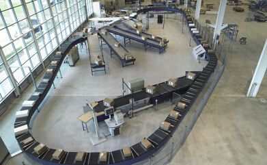 automated parcel sorting machine