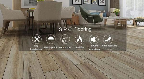 stone plastic composite flooring