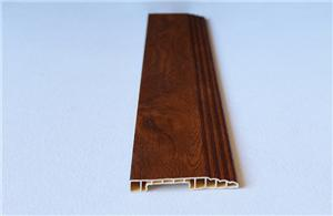 Brown plain spc pvc skirting boards