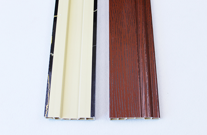 Brown plain spc pvc skirting boards Manufacturers, Brown plain spc pvc skirting boards Factory, Supply Brown plain spc pvc skirting boards