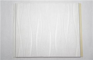 White wavy commercial vinyl wall panels