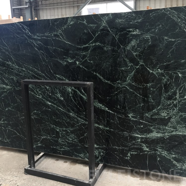 Polished Taiwan Garish Green Marble Slabs