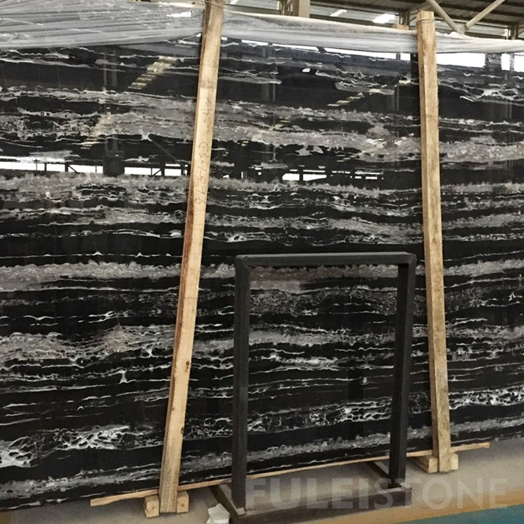 China Black Silver Dragon Marble Slabs