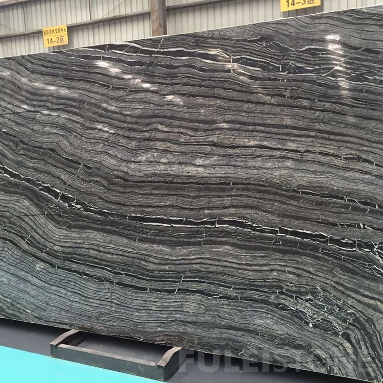 Straight Black Forest Marble Slabs