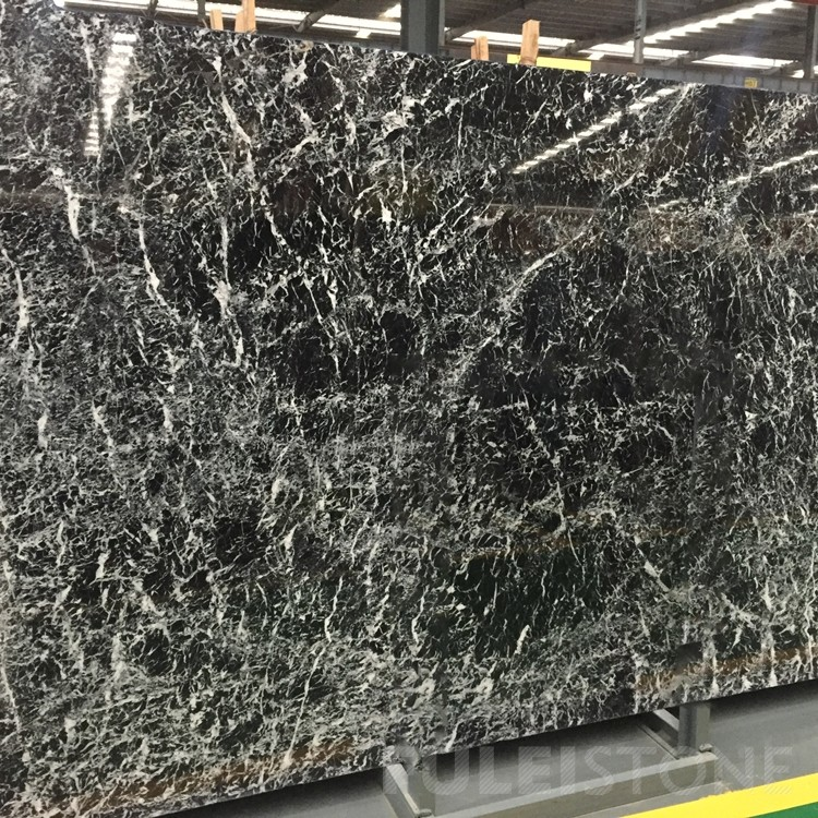 Nero Snow Black Marble Slabs