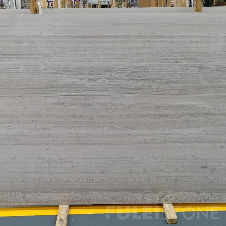 China White Wooden Marble Slabs