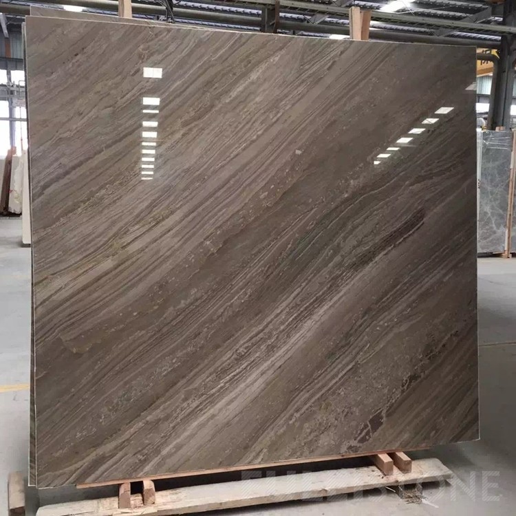 China Magic Brown Wooden Marble Slabs