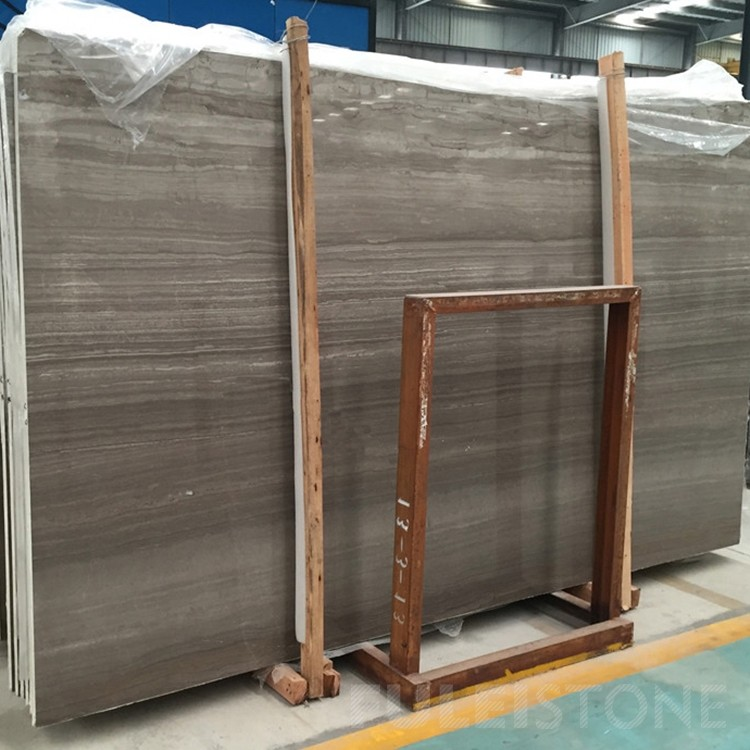 China Coffee Wooden Vein Marble Slabs