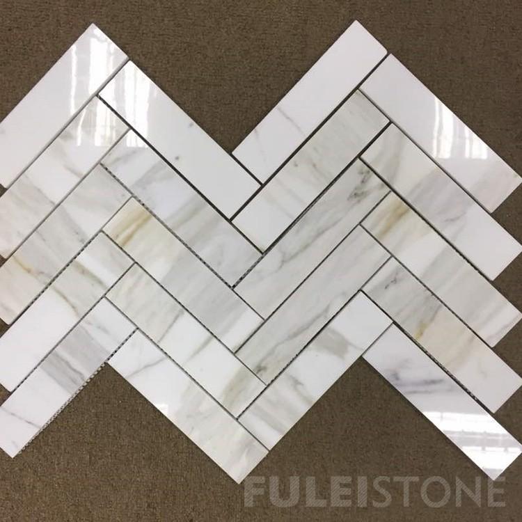 12x12' Calacatta Gold Marble Mosaic Tiles