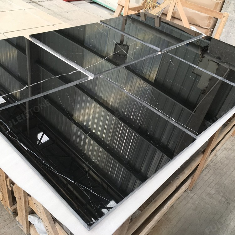 Black Nero Marquina Marble Tile