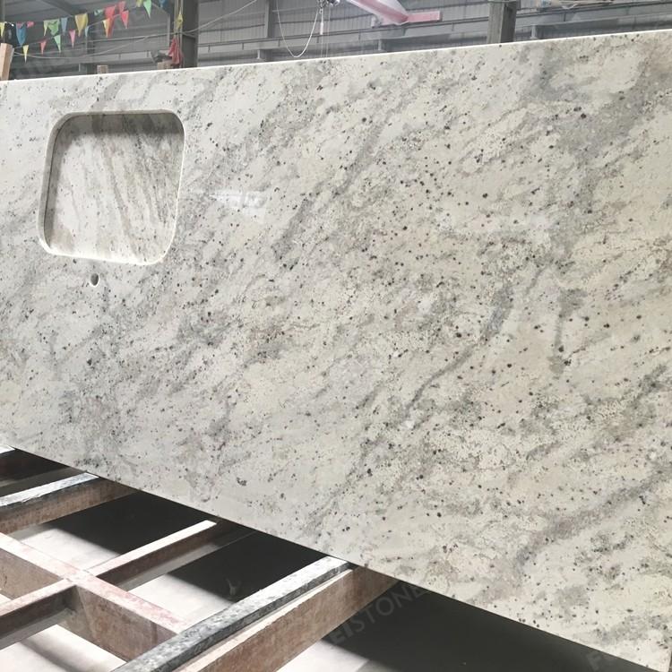 Prefab Kitchen Andromeda White Granite Countertop