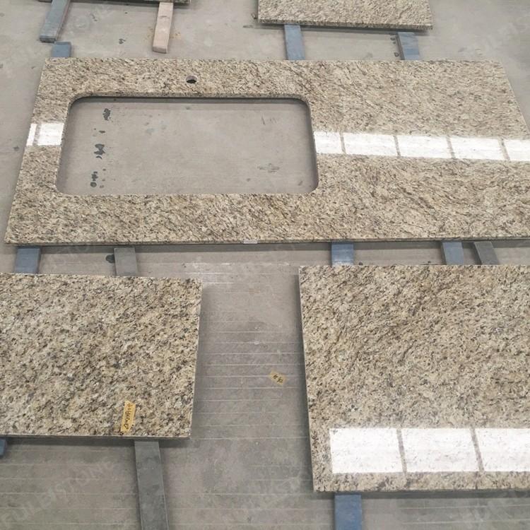 Prefabricated Giallo Ornamenta Granite Kithcen Countertops