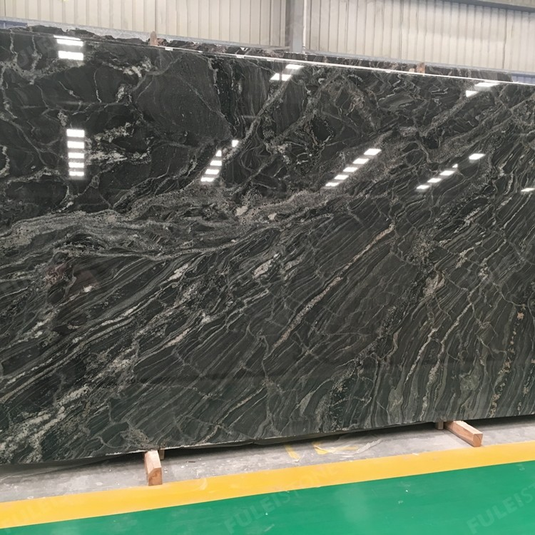 Polished Ganges Black Granite Slabs