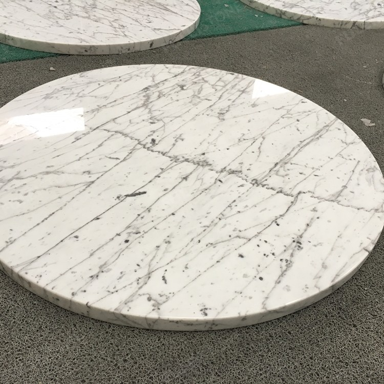 Circle and Square Statuario Marble Table for Sale