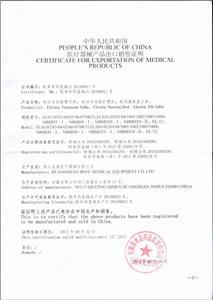 Free sale certification
