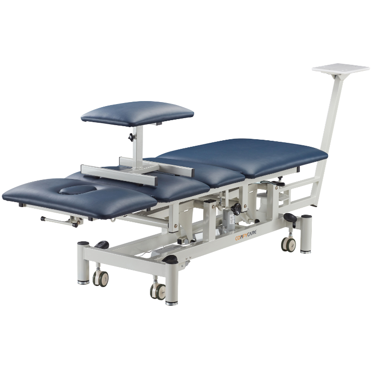 Lumbar traction bed
