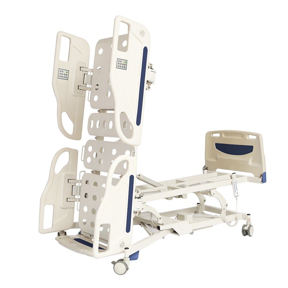Tilting hospital ICU bed